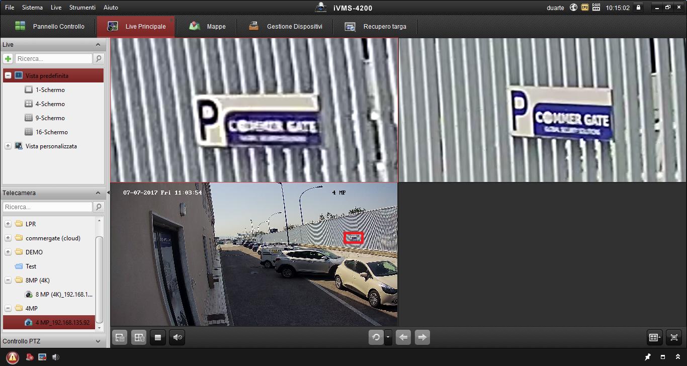 e6d3dcbfcae109 Ecco la differenza una volta applicato lo zoom digitale. In basso ->  L'immagine per intero (il riquadro rosso mostra la zona dello zoom, circa  80mt dall ...